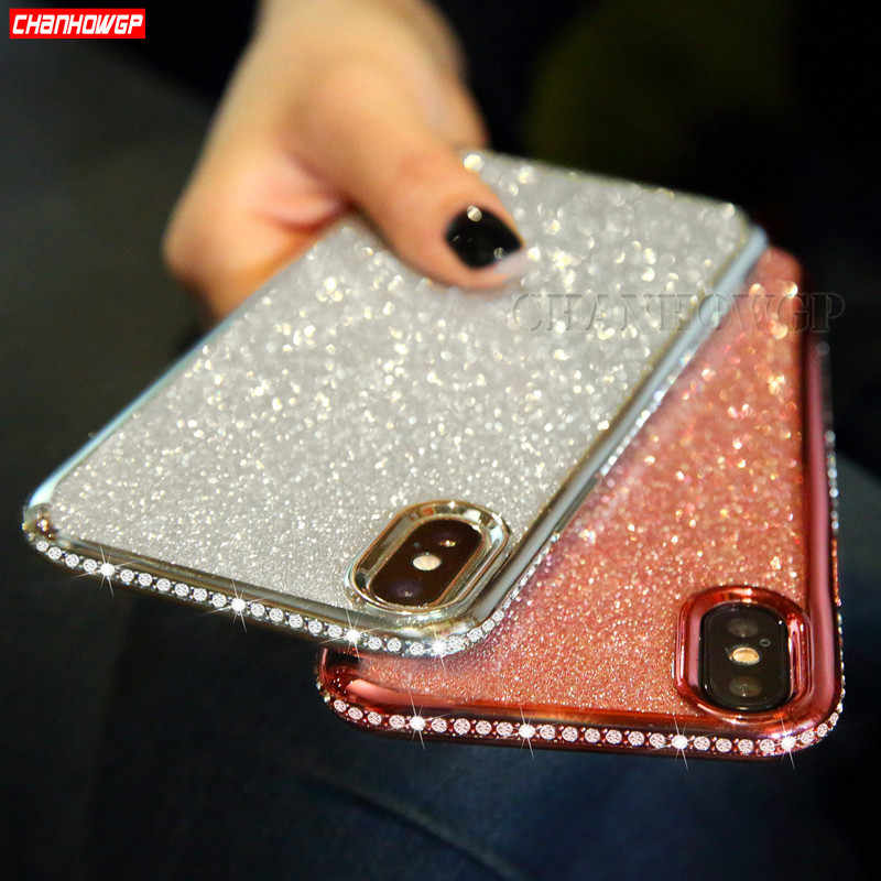 Rhinestone Glitter Case For Samsung Galaxy A30 A50 A70 A60 A40 A20 A10 A90 S8 S9 S10 Plus S10E A5 A6 A8 A7 2018 Note9 Soft Cover