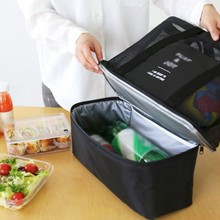 स्टोरेज बैग थर्मल इन्सुलेशन हैंडहेल्ड लंच बैग इन्सुलेट कूलर पिकनिक मेष बीच टोट बैग फूड ड्रिंक स्टोरेज ब्लू
