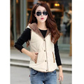 2017 New Spring Women Vest Coat Casual Style Outwear Veste Femme Solid Hooded Quality Brand Clothing Sleeveless Waistcoat M-3XL