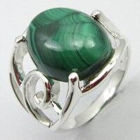 Pure Silver Malachite Ring Sz 7.75 Engagement Art Jewelry Unique Designed