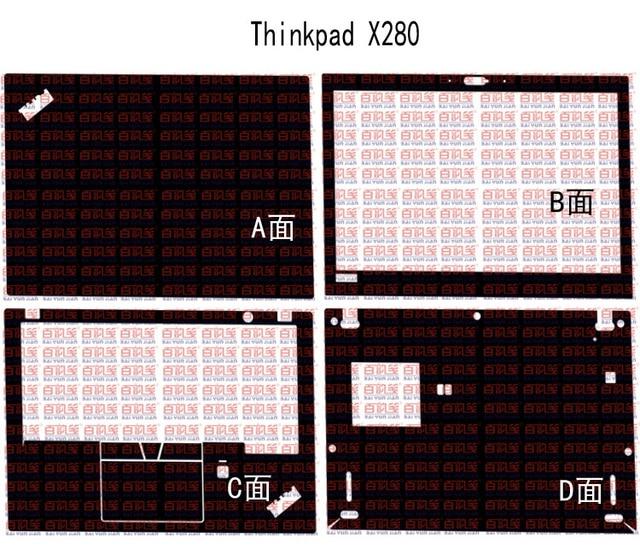 "Special Laptop Carbon fiber Vinyl Skin Stickers Cover guard For 2018 Lenovo ThinkPad x280 12.5"" nontouchscreen"