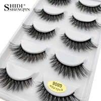 5 pairs 100% Real Fake Mink Eyelashes 3D Natural False Eyelashes 3d Mink Lashes Soft Eyelash Extension Makeup Kit Cilios G806