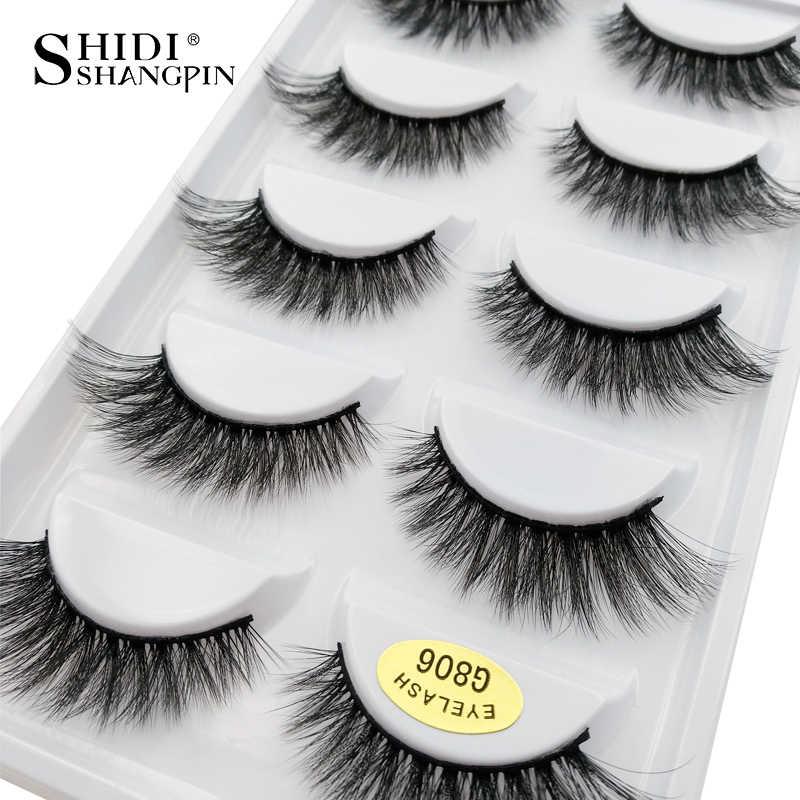 0aec11abb1e 5 pairs 100% Real Fake Mink Eyelashes 3D Natural False Eyelashes 3d Mink  Lashes Soft