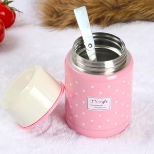 Image 4 - 350ml Material de calidad alimentaria termo taza plegable cuchara guiso sopa termo portátil Termos bueno para la familia tomar el almuerzo