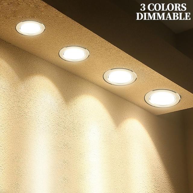 LED Downlight 3 W 5 W 7 W 9 W 12 W 15 W עגול שקוע מנורת 220 V 230 V 240 V 110 V Led הנורה חדר שינה מטבח מקורה LED ספוט תאורה
