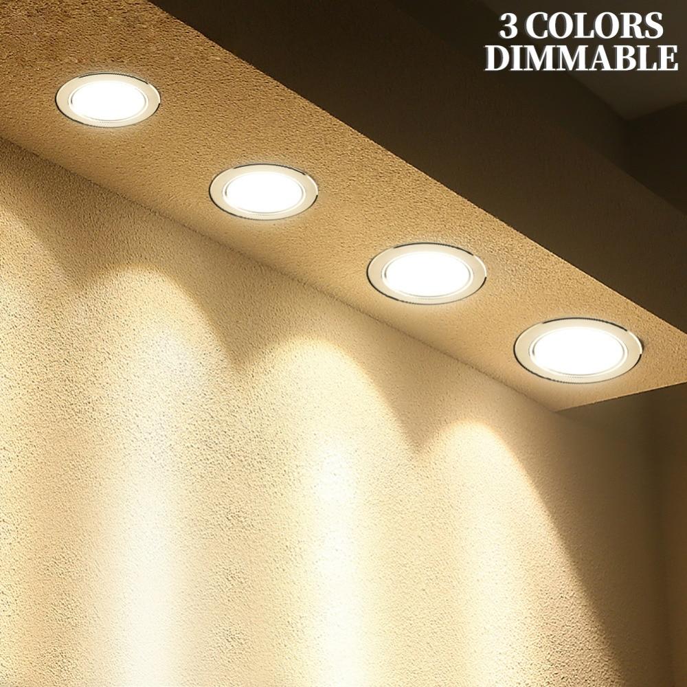 LED Downlight 3W 5W 7W 9W 12W 15W Round Recessed Lamp 220V 230V 240V 110V Home Decor Bedroom Kitchen Indoor Spot Lighting