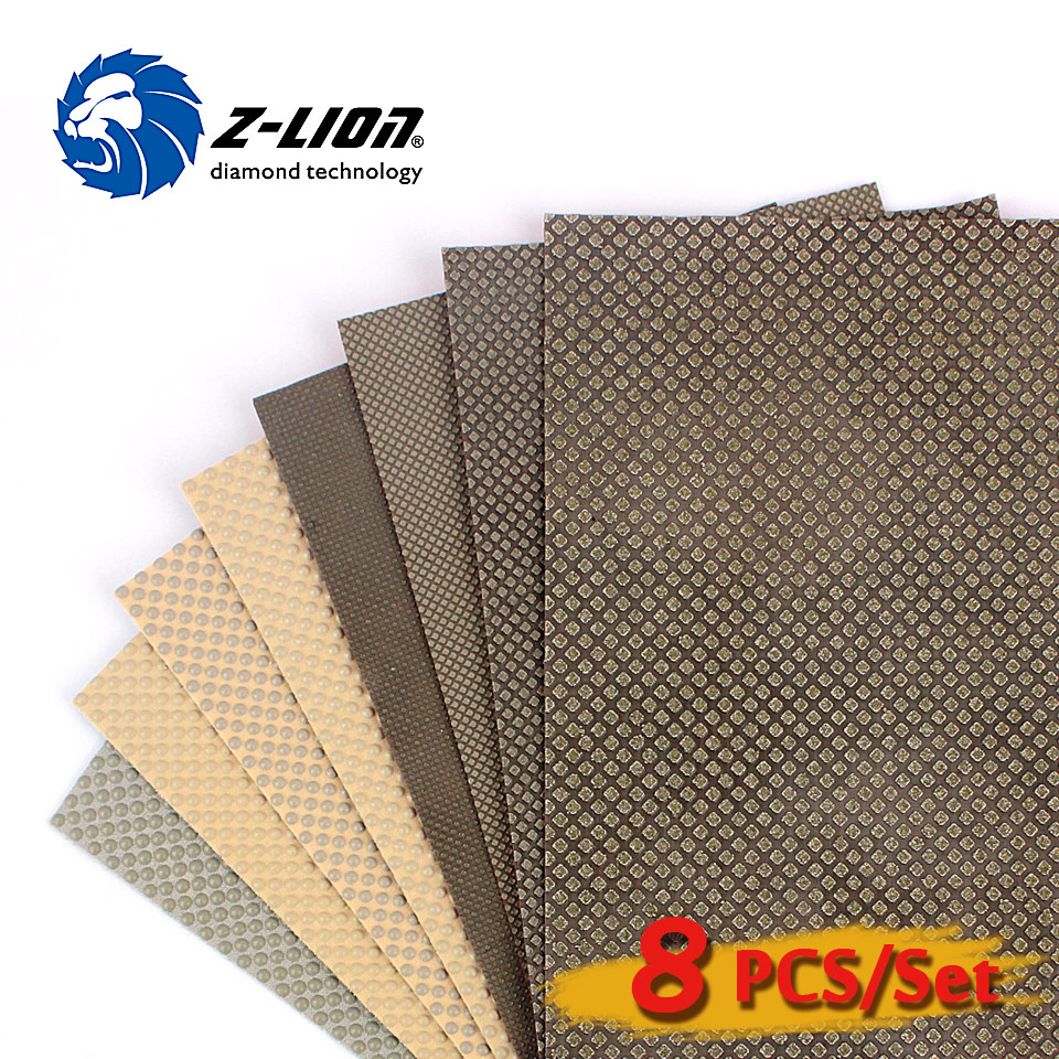 Z lion Factory quality Diamond Hand polishing sheet 120 180MM for polishing of stone glass and