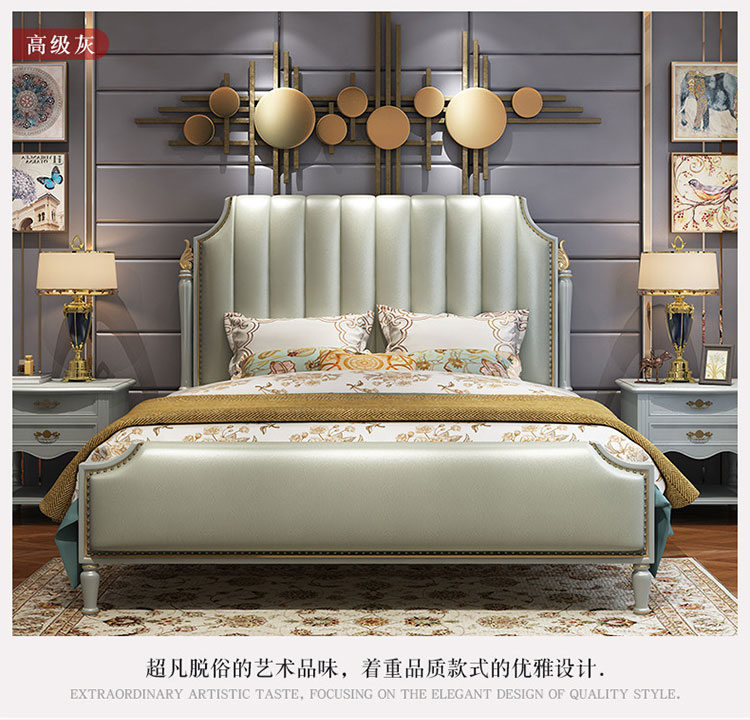 Hot sale Luxury Italian bed classic antique bed europe designs king size beds