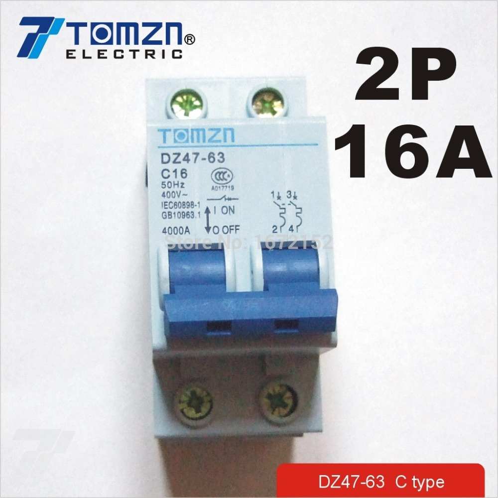 2P 16A 400V~ 50HZ/60HZ Circuit breaker AC MCB safety breaker C type2P 16A 400V~ 50HZ/60HZ Circuit breaker AC MCB safety breaker C type