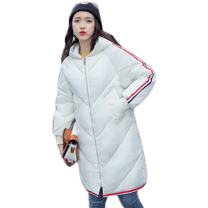 High Quality 2017 New Winter Jacket Women Long Loose Casual Female Cotton-padded Thick Warm Coat Ladies Outwear Overcoat CM9182 swenearo 2017 new women thick warm coat hooded high quality cotton padded winter jacket women ladies coats winter collection