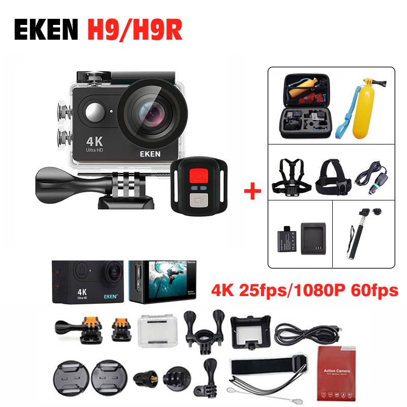 EKEN H9 H9R Action camera Ultra HD 4K WiFi 170D pro Helmet Cam 1080 P go underwater waterproof spca6350 Camcorder go Sport cam eken h8 h8r ultra hd 4k 30fps wifi action camera 30m waterproof 12mp 1080p 60fps dvr underwater go helmet extreme pro sport cam