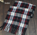 2015 New fashion burb Grid trench plaid Brand Silk men chiffon seda print ring shawl Long Scarves men size 140 *30