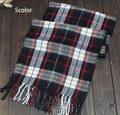 2015 New fashion burb Grid trench plaid Brand Silk men chiffon seda print ring shawl Long Scarves men size 140 *30