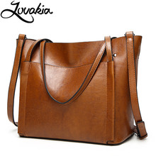 LOVAKIA brand leather handbags big women bag classic Female Bags trunk tote shoulder ladies large bolsos