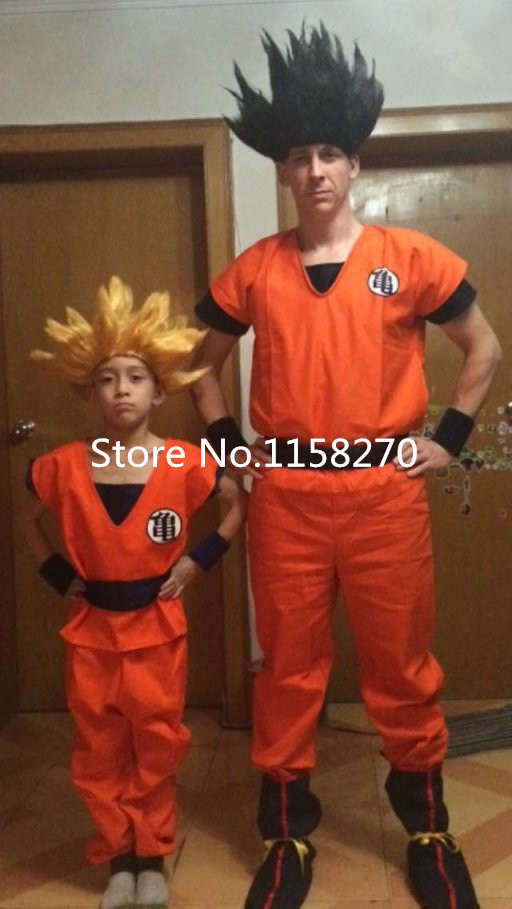 Dragon Ball Son Goku Kids Adult Cosplay Costume Clothes full set