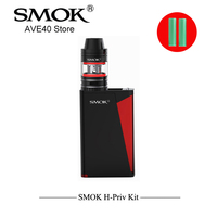 100 Electronic Cigarettes SMOK H PRIV 200W TC Kit With 3 5ml Subohm TFV4 Vape Atomizer