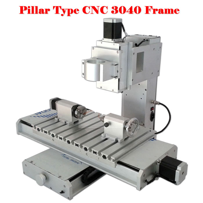 1500W cnc spindle cnc body 3040 pillar type 4 axis CNC frame and ...