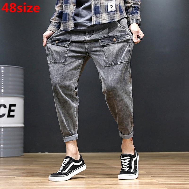 Harem-Pants Elastic-Trend Loose Men's Large-Size Summer Retro Tide 48 Thin-Section