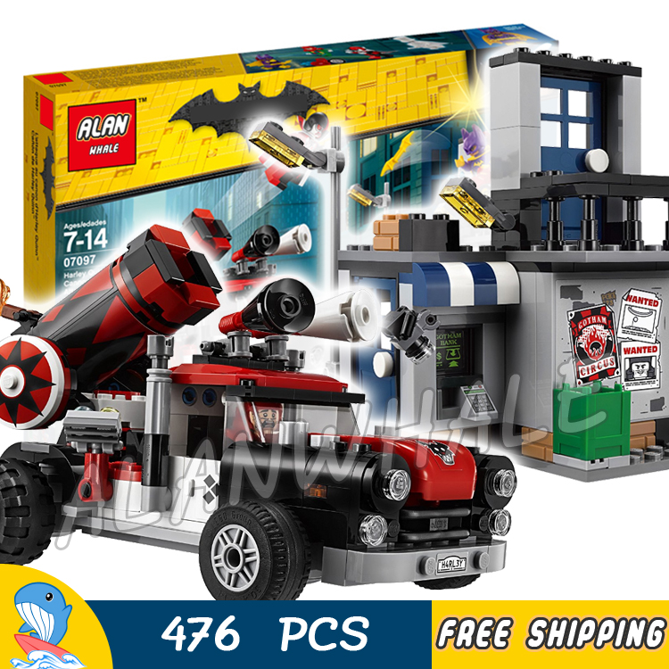 476pcs Super Heroes Batman Movie DC Harley Quinn Cannonball Attack 07097 Model Building Blocks Toys Bricks Compatible With lego