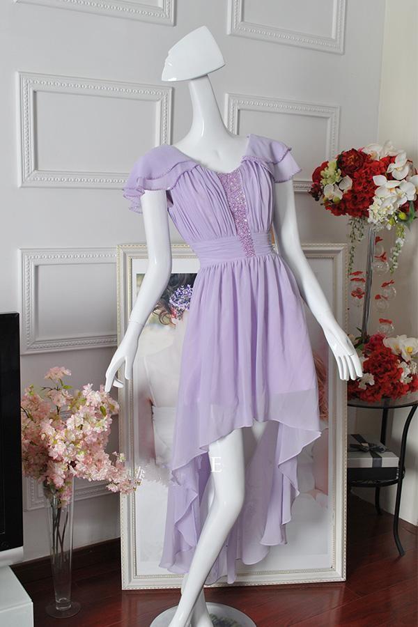 High Low Lilac Dress (1)