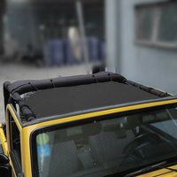 Screen Car shade Protection Sunlight For Jeep Wrangler TJ 2 Doors Block Mesh Cover UV Rays