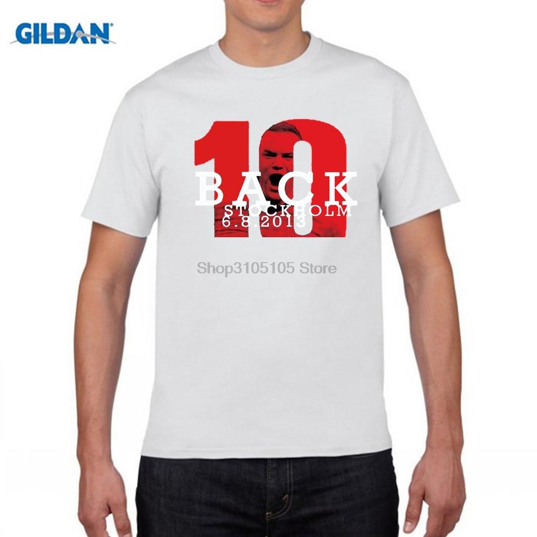 GILDAN Wayne Rooney England Everton Premier League The Red Devils 100% cotton jersey 253 goals