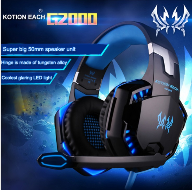 Gaming Headphones Stereo Noise Cancelling Headsets Studio Headband Microphone Earphones With Light For Computer PC Gamer EACH G2 each g1100 shake e sports gaming mic led light headset headphone casque with 7 1 heavy bass surround sound for pc gamer