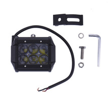 1Pc 4 Inch 4D 18W 6LED Projector Len Spot Beam LED Work Light Lamp for ATV /Truck/Tractor SUV/Jeep fog light