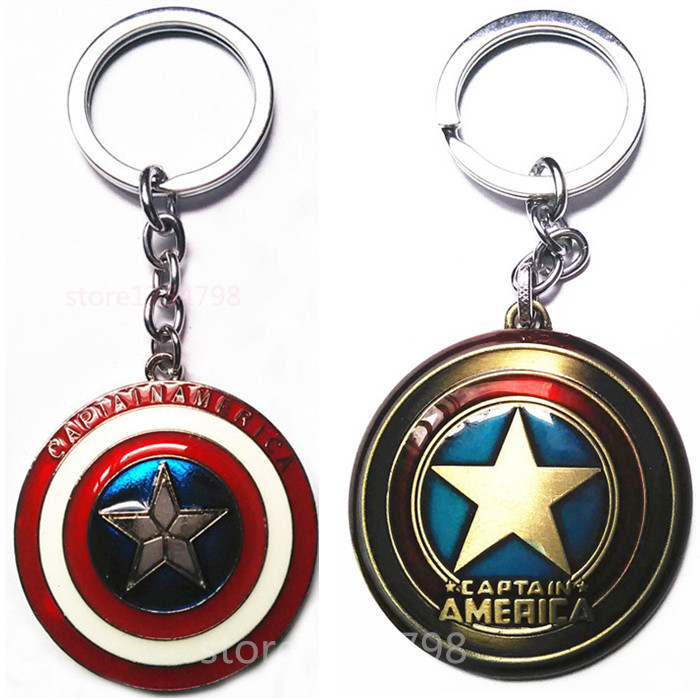 Nova Moda Captainamerica Chaveiro Bronze Vermelho Preto Chave Anel Keychain  do Flash Brilhante de Metal Keychain Venda Quente 9e88a6c16773