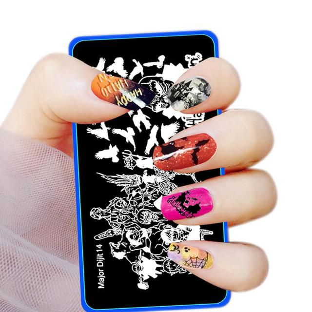 New Arrival Fashion Black color Halloween DIY Nail Art Image Stamp ...
