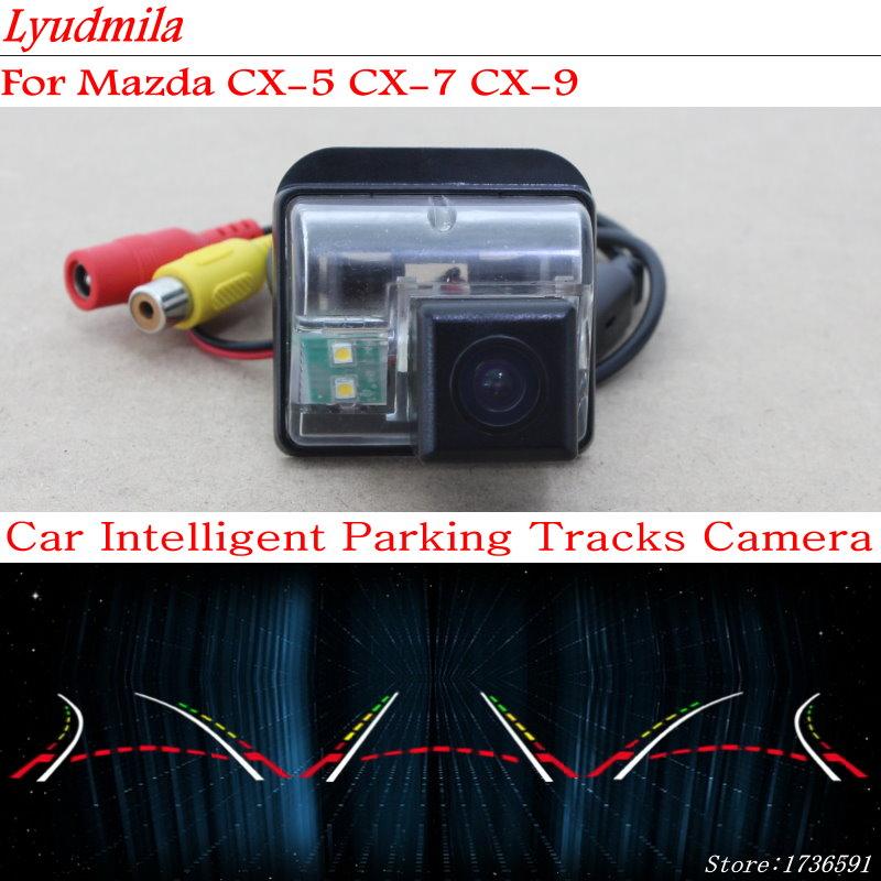 Lyudmila Car Intelligent Parking Tracks Camera FOR Mazda CX-5 CX 5 CX5 CX-7 CX7 CX 7 CX-9 CX9 CX 9 Reverse Rear View Camera все цены