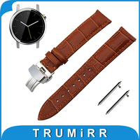 20mm Genuine Leather Watch Band Quick Release Strap For Motorola Moto 360 2 42mm Men 2015