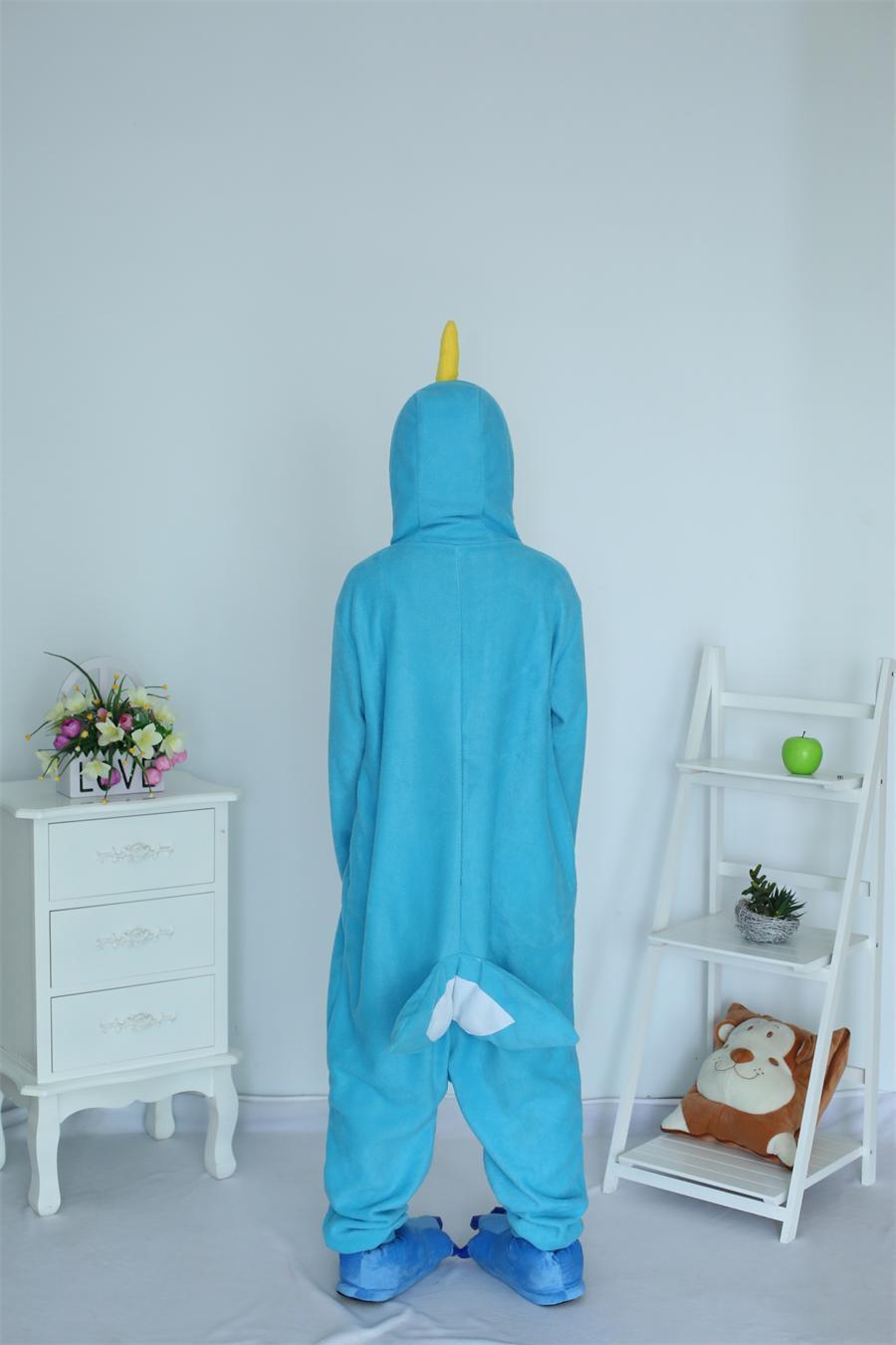 Cartoon Adult Unisex Animal Costume Narwhal Onesie Whale Pajamas Fleece Sheep Pajamas Animal Costumes Cosplay Sleepwear