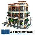 DHL Frete Grátis 2017 New Arrival Moda Starbucks Coffee Shop Modelo de Construção de Brinquedos de Plástico Blocos de Tijolo Mini Puzzles 15017