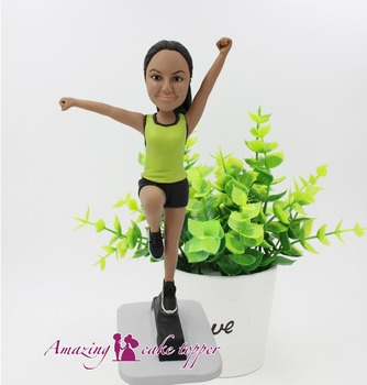 2019 AMAZING CAKE TOPPER Fitness sports beauty Toys Custom Polymer Clay Figure From Pictures