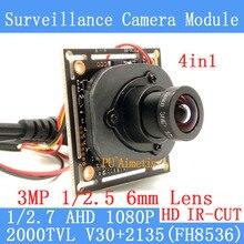 4in1 2MP 1920*1080 AHD CCTV 1080P mini night vision Camera Module 1/2.7 2000TVL 3MP 6MM surveillance camera
