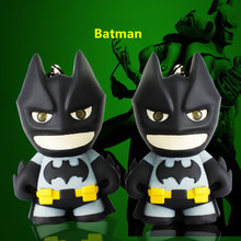 Flash Sound Batman Key chain Movie The Avengers 3 LED Batman Keyring Novelty Toys Festival Gifts
