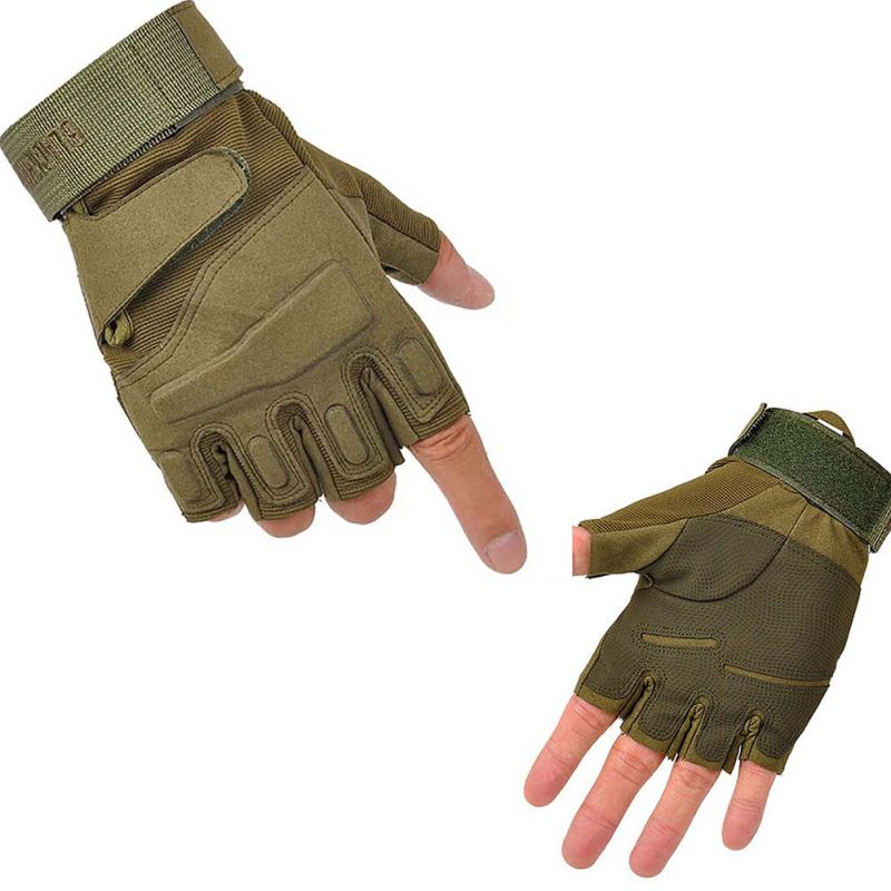 цена на Outdoor Hunting Gloves Winter Windproof Sports Fingerless Military Tactical Hunting Riding Sports Gloves