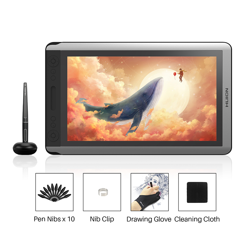 Huion Kamvas 16 Digital Pen Tablet Monitor Graphics Drawing Monitor Pen Display with Battery-free Pen Tilt function for Win Mac image