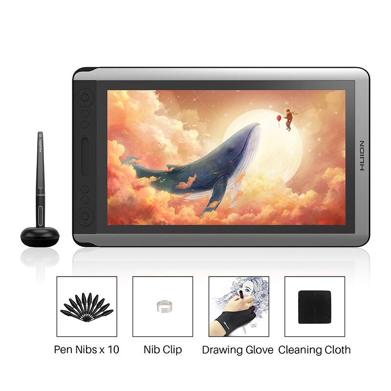 Huion Kamvas 16 Caneta Digital Monitor de Tablet Gráficos de Desenho Caneta Monitor de Tela com Bateria-free Pen função de Inclinação para win Mac