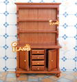 1/12 Dollhouse Miniature Furniture  Delicate 3 Layer Showcase/Cabinet with Drawers Mahogany color Free Shipping WL016C
