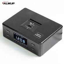 ALWUP NFC Bluetooth Stereo Lautsprecher Smart Ladegerät Dock Station mit FM Radio Dual Wecker Fernbedienung Lcd-bildschirm für telefon