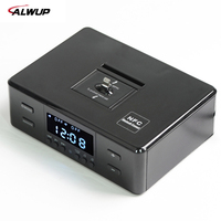 ALWUP NFC Bluetooth Stereo Speaker Smart Charger Dock Station With FM Radio Dual Alarm Clock Remote