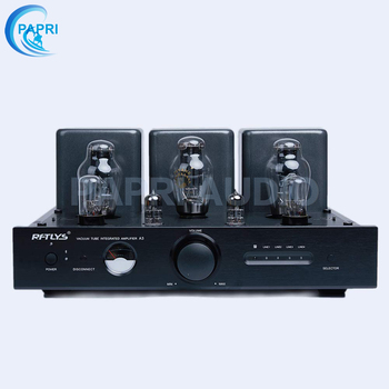 PAPRI RFTLYS - A3 - Single-Ended Class-A 300B Intergrated Amplifier Vacuum Tube with Bluetooth & Remote (Black) by finished el34 vacuum tube amplifier stereo hifi single ended class a power amp 5z4p rectifier 6n2 tube amplifier