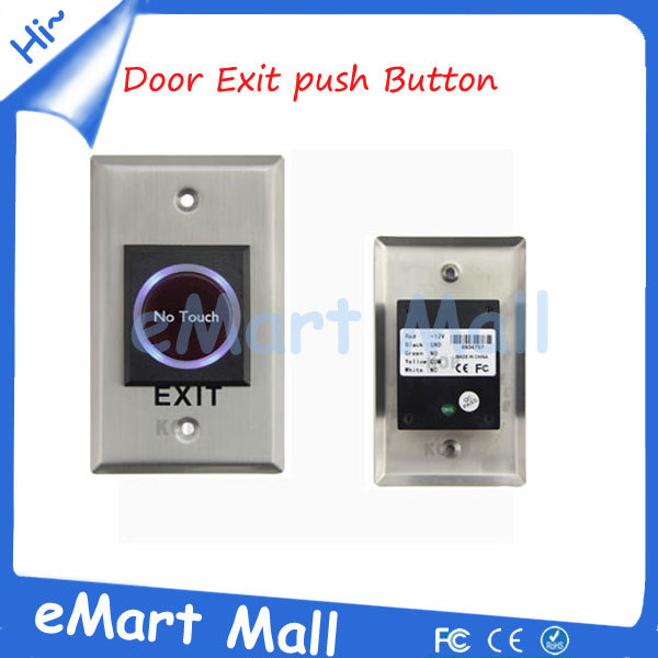Whole sale Infrared Sensor Switch No Touch Contactless Door Release Exit Button with LED Indication thyssen parts leveling sensor yg 39g1k door zone switch leveling photoelectric sensors