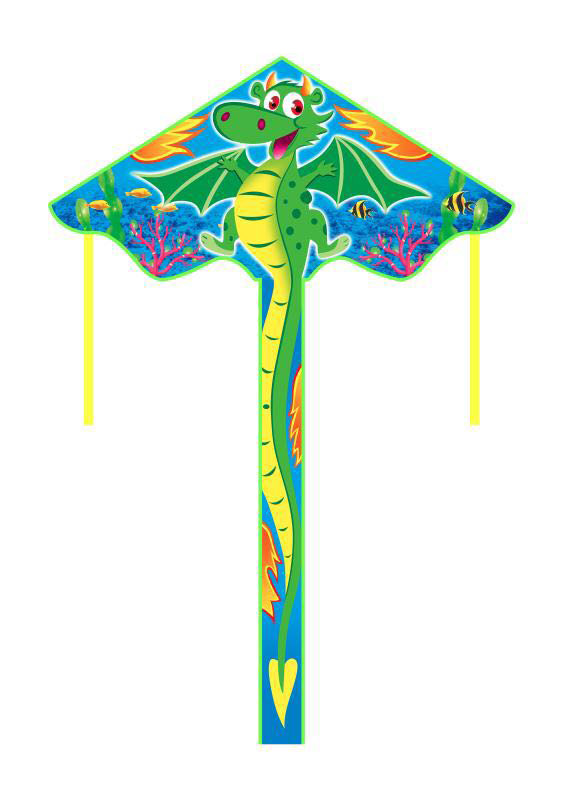 New Arrive  Outdoor Fun Sports  55 Inch Dragon Kite /Kites With Handle And Line For Kids Gifts Good Flying