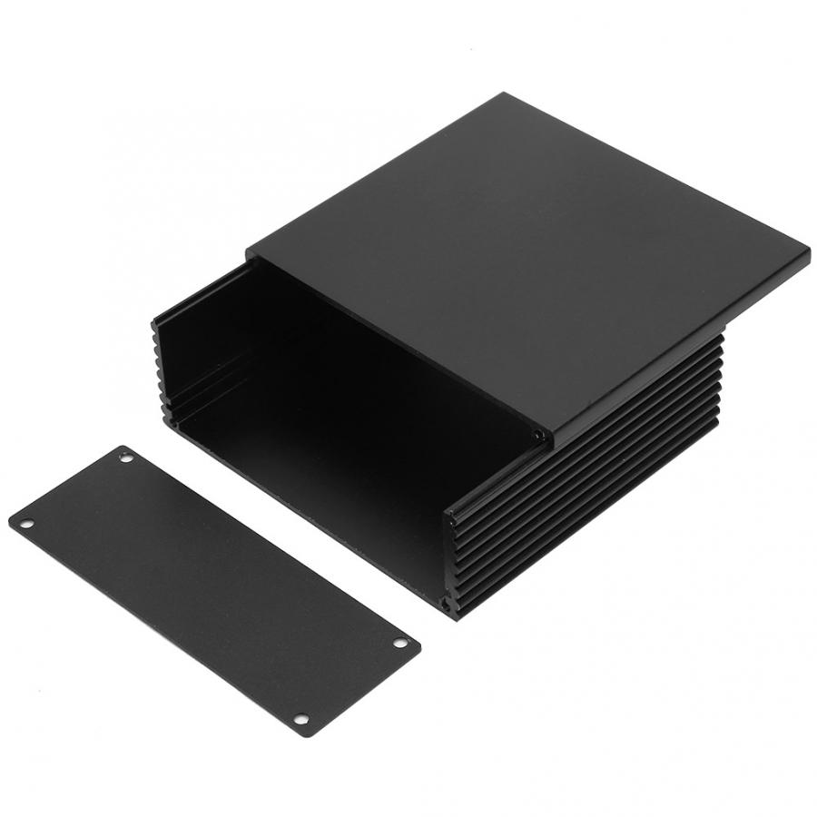 Circuit Board Instrument Aluminum Cooling Box DIY Electronic Project Enclosure Case 40 110 100mm for Heat-dissipating