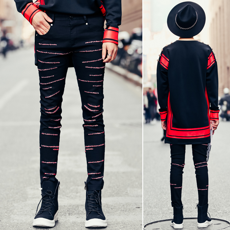 Popular Men Red Skinny Jeans-Buy Cheap Men Red Skinny Jeans lots ...