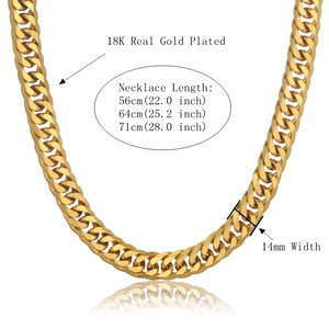 Image 2 - الهيب هوب نمط 14 مللي متر الكوبية سلسلة قلادة و سوار مجموعة للرجال هدية بالجملة الأفريقي دبي الذهب مجوهرات من صلب لا يصدأ مجموعات