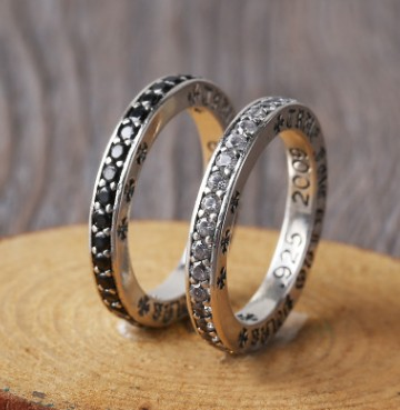 thai silver 925 finger ring black rings for women lady rings cross 3mm